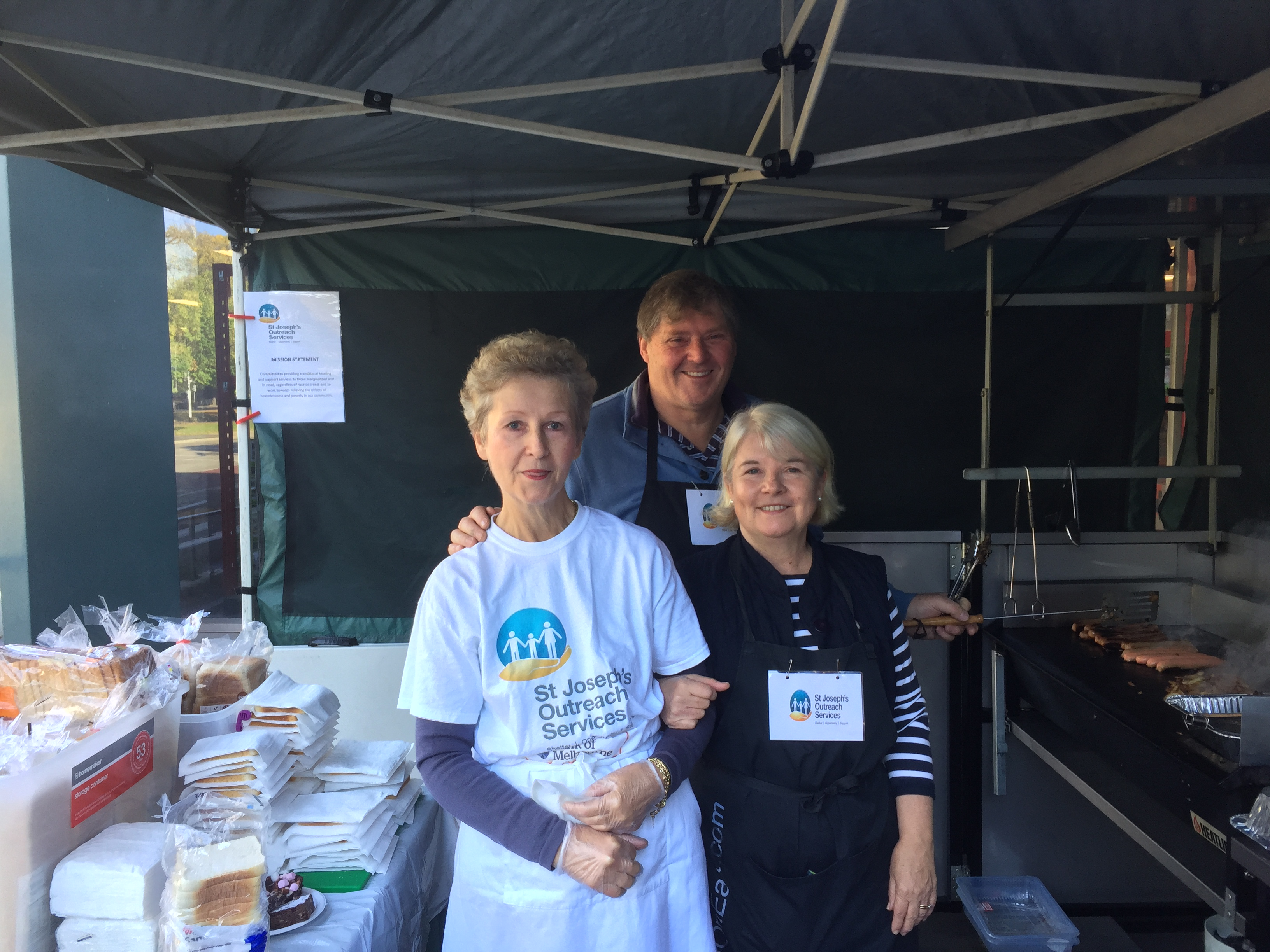 SJOS Sausage Sizzle at Bunnings Collingwood